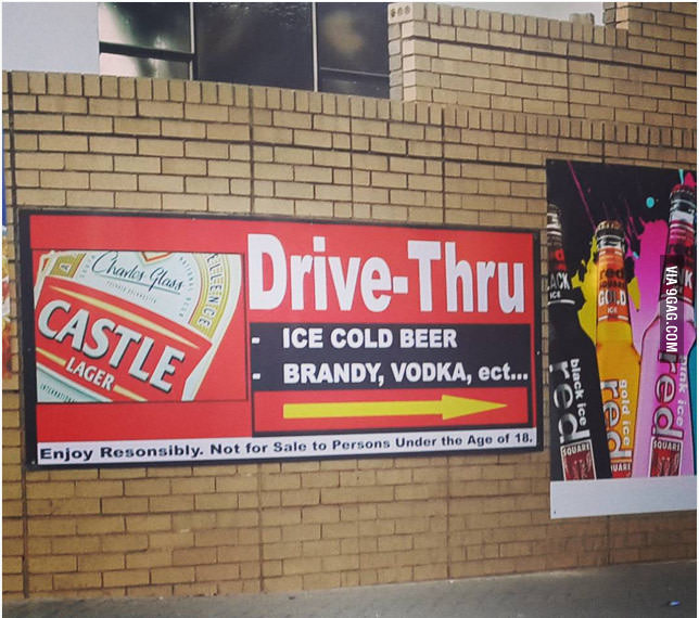 Alcohol Drive Through Only In SA