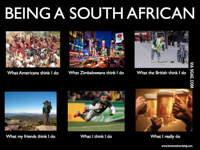 Being South African