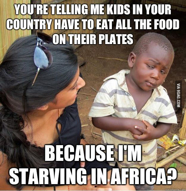 Starving Africans