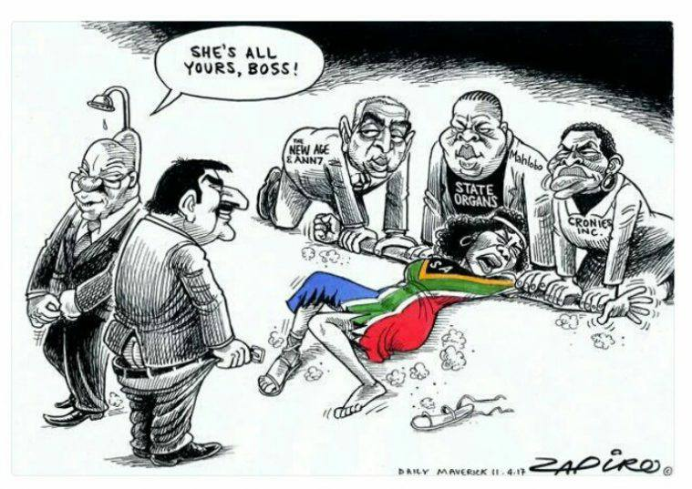 SA Being Raped By Zuma and Guptas - By Zapiro