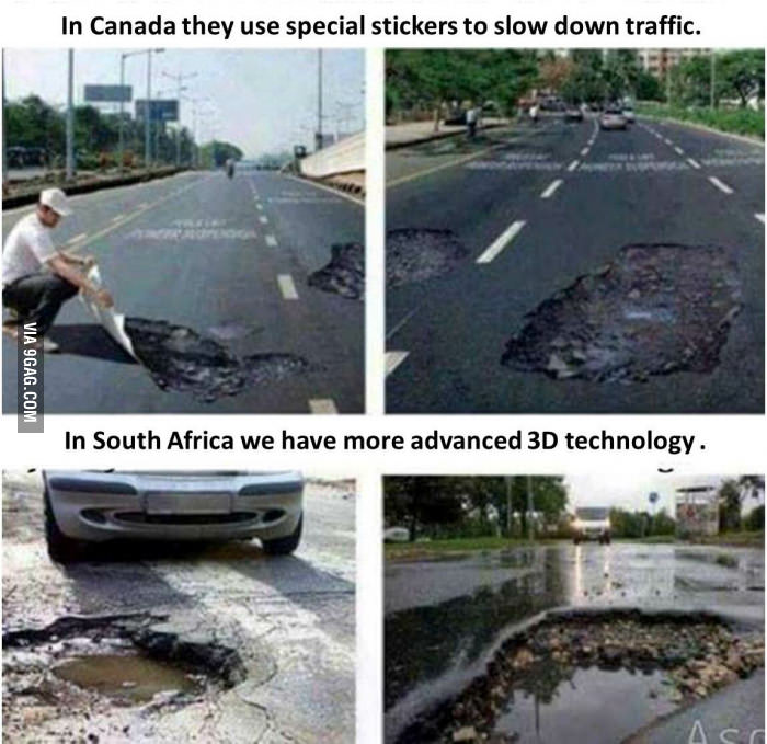 SA Got 3D Printed Potholes