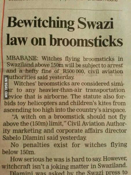 Bewitching Swazi Law
