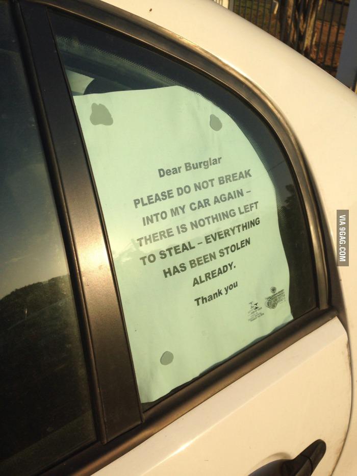 Dear Burglar