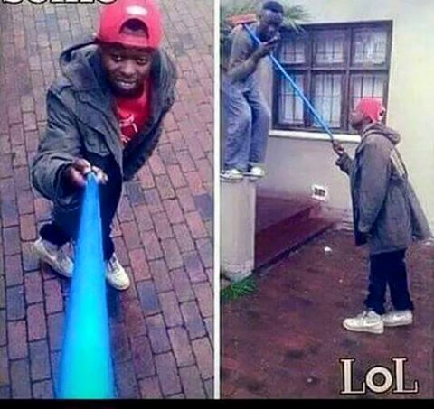 Broomstick Selfie